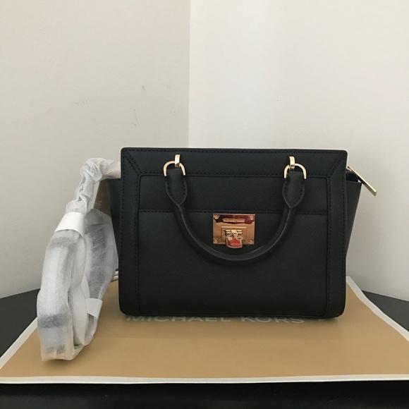 8a53ba40a5a2 Michael Kors Bags | Nwt Tina Black Small Messenger Bag | Poshmark